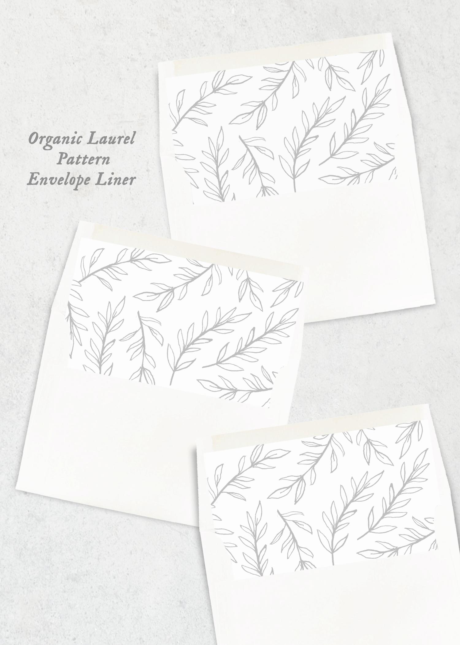 envelope liners organic laurel