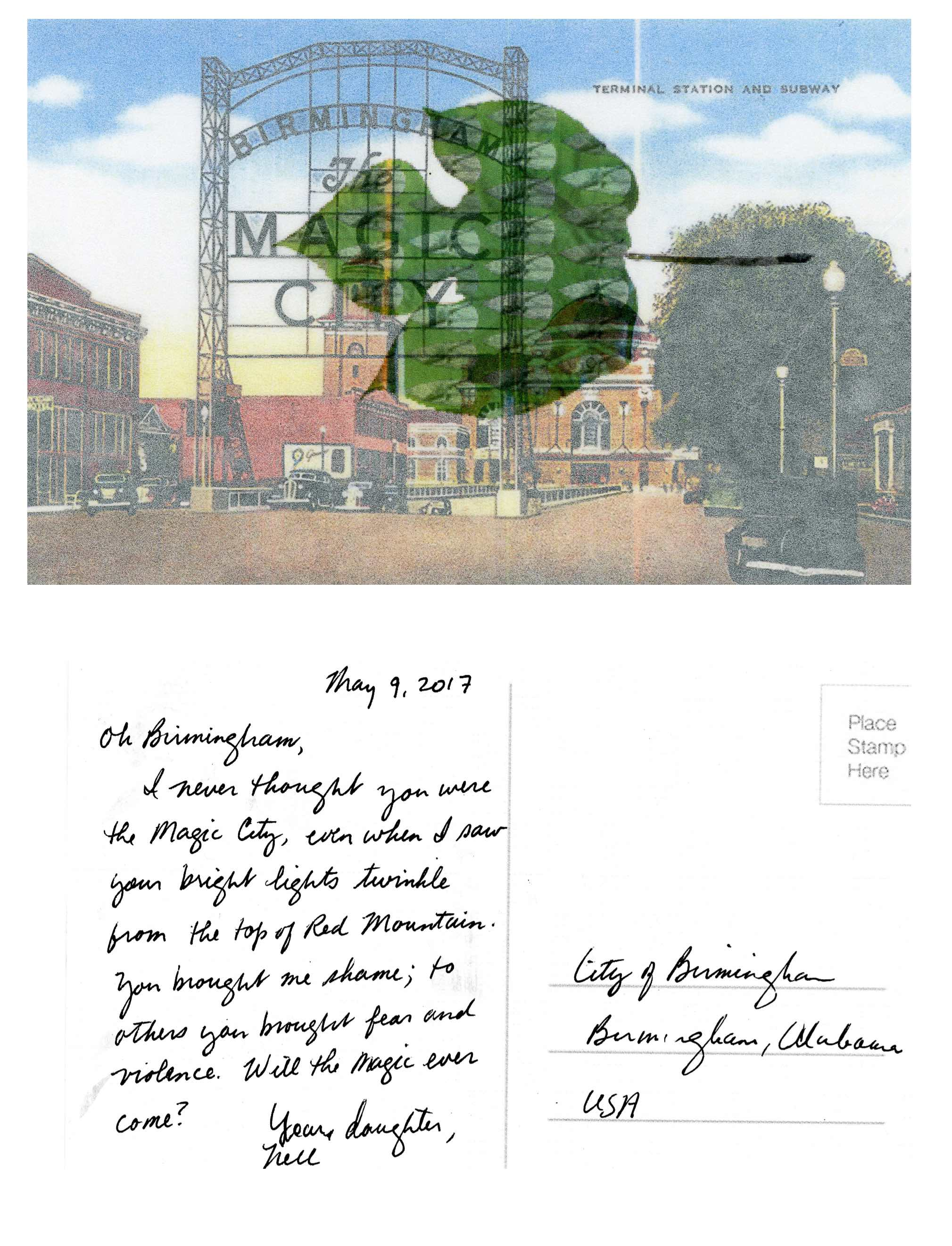 Postcard to Birmingham - Nell Gottlieb