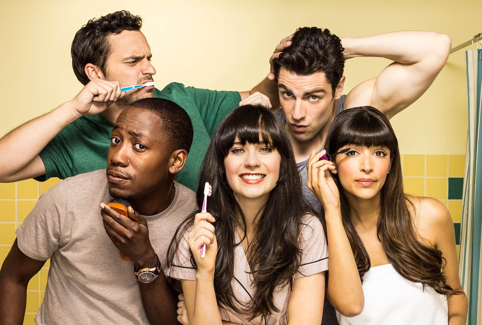 """""""New Girl"""" cast"""