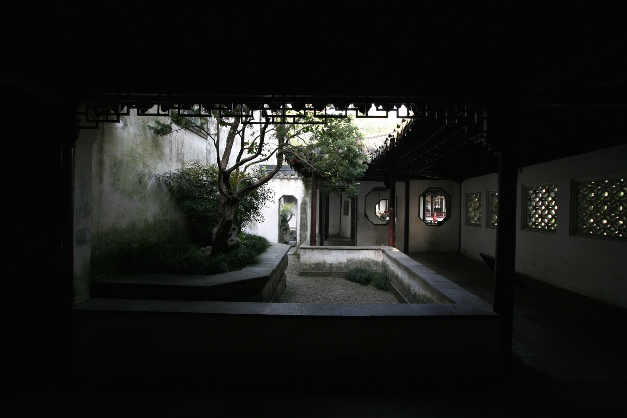 One of several intimate courtyards that ultimately open up to the central garden.