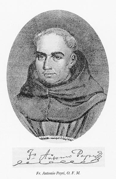Mission founder Father Antonio Peyri. Source: San Diego History Center.