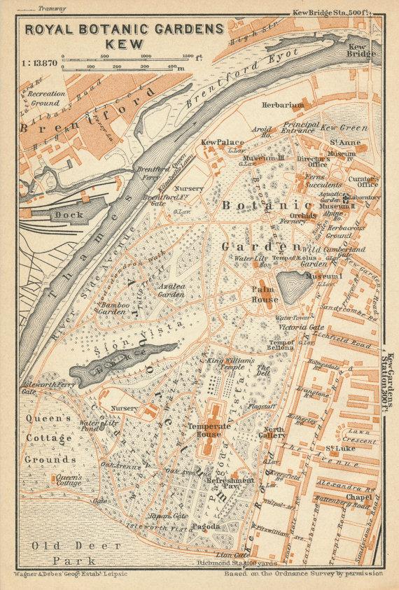 Garden map circa 1870.