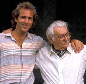 A younger Raymond Jungles, author of   The Cultivated Garden , with mentor Roberto Burle Marx. Source: Naples Botanical Garden.