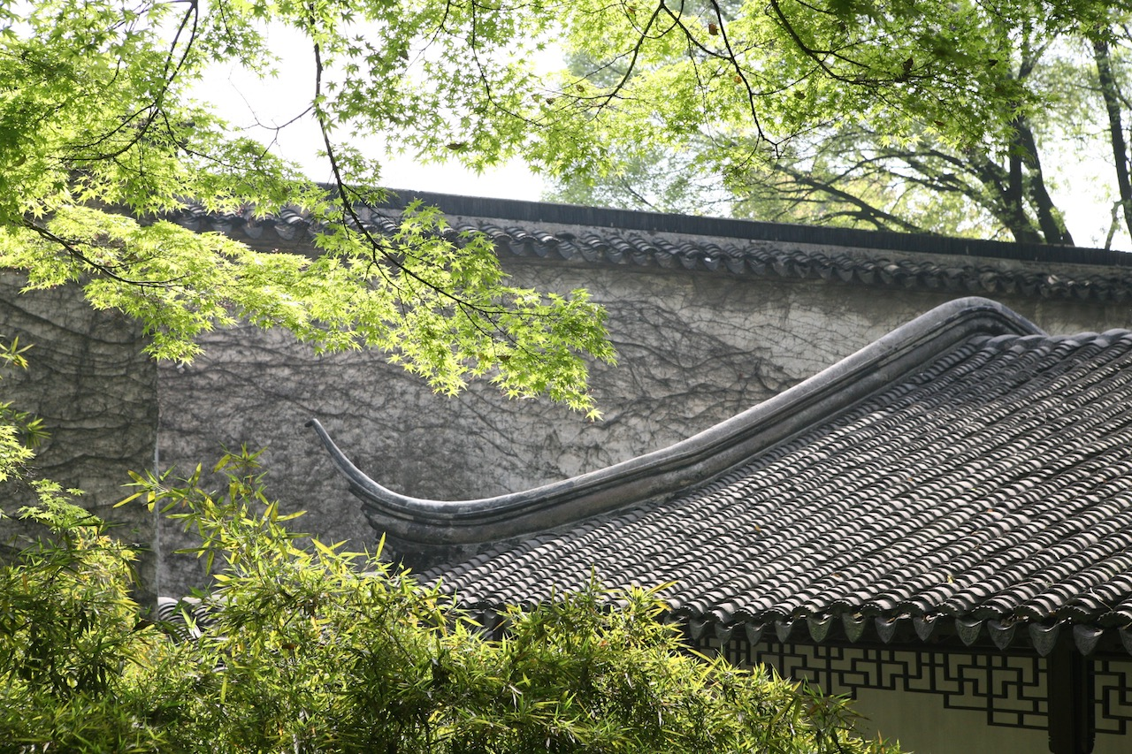 Roof detail at the Lingering Garden.Suzhou, China.