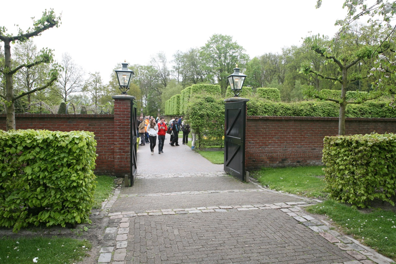 One of the entrances to the walled garden.