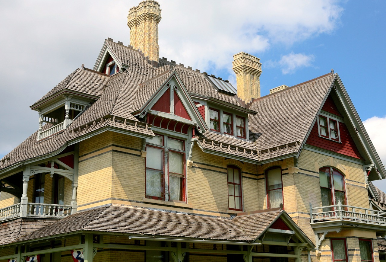 Henry and   Cremora   Rogers built the home in 1882 for their family. Nationally   recognized architect William   Waters designed the home in the Queen Anne style.