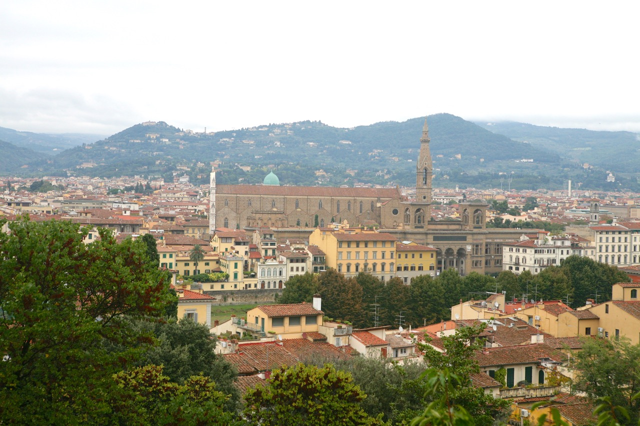 The gardens at Bardini have spectacular views of Florence.