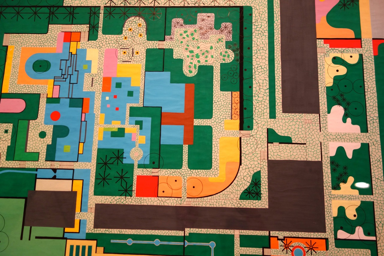 A portion of Roberto Burle Marx's design for the Clemente Gomes residence garden.  1979.