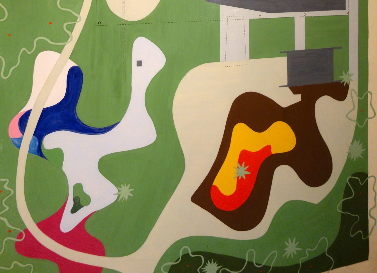 Close-up view of Roberto Burle Marx's garden design for the Burton and Emily Hall Tremaine Beach House.  Santa Barbara, California, 1948.