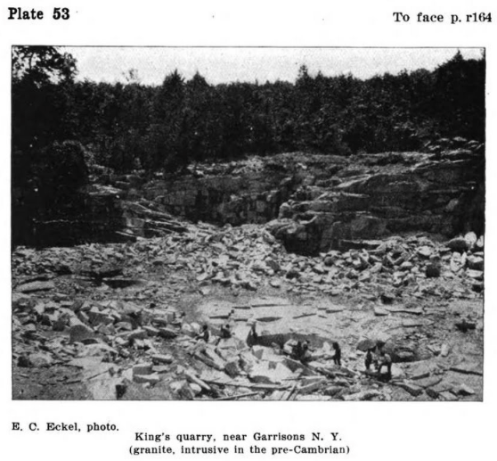 King's Quarry in the late 1800's.  View of the quarry that would become Manitoga.  Photograph taken from   The Quarry Industry in Southeastern New York   by Edwin C. Eckel, published 1902.