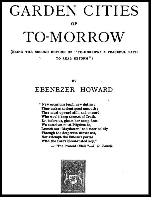 Ebenezer Howard founded the garden city movement.