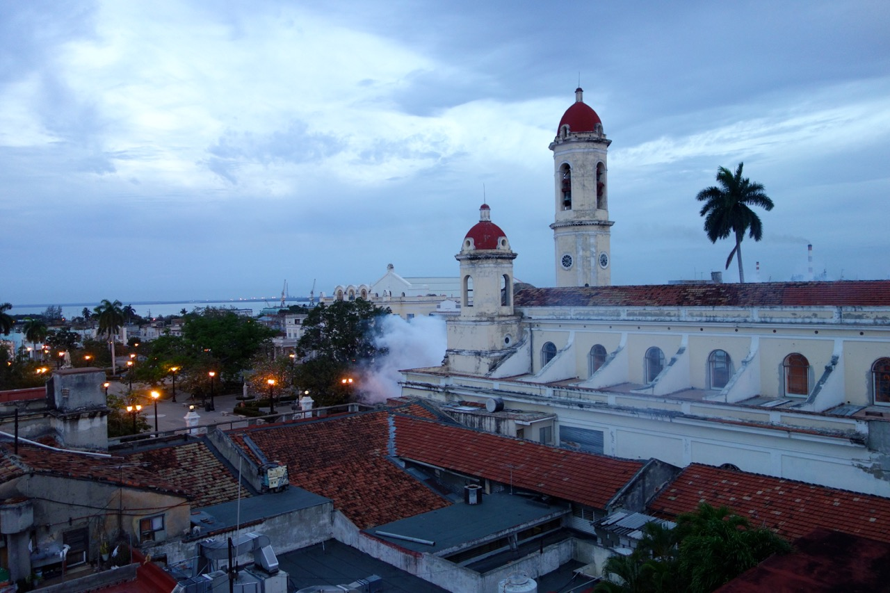 The garden lies a short drive from the town of Cienfuegos, founded in 1819.