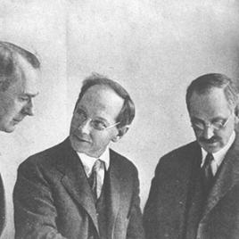 """Frederick Law Olmsted Jr (center) flanked by associate partner James Federick Dawson and landscape architect Percival Gallagher. """"After Frederick Law Olmsted, Sr., retired in 1898, Frederick Law Olmsted, Jr. and his half-brother John Charles Olmsted formed the Olmsted Brothers firm""""  - The Cultural Landscape Foundation (tclf.org)"""