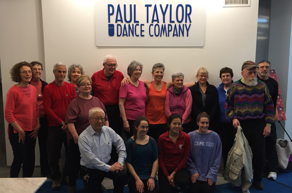 DAPpers, Dancing with Parkinson's and Brown dancers at the Paul Taylor Studio.