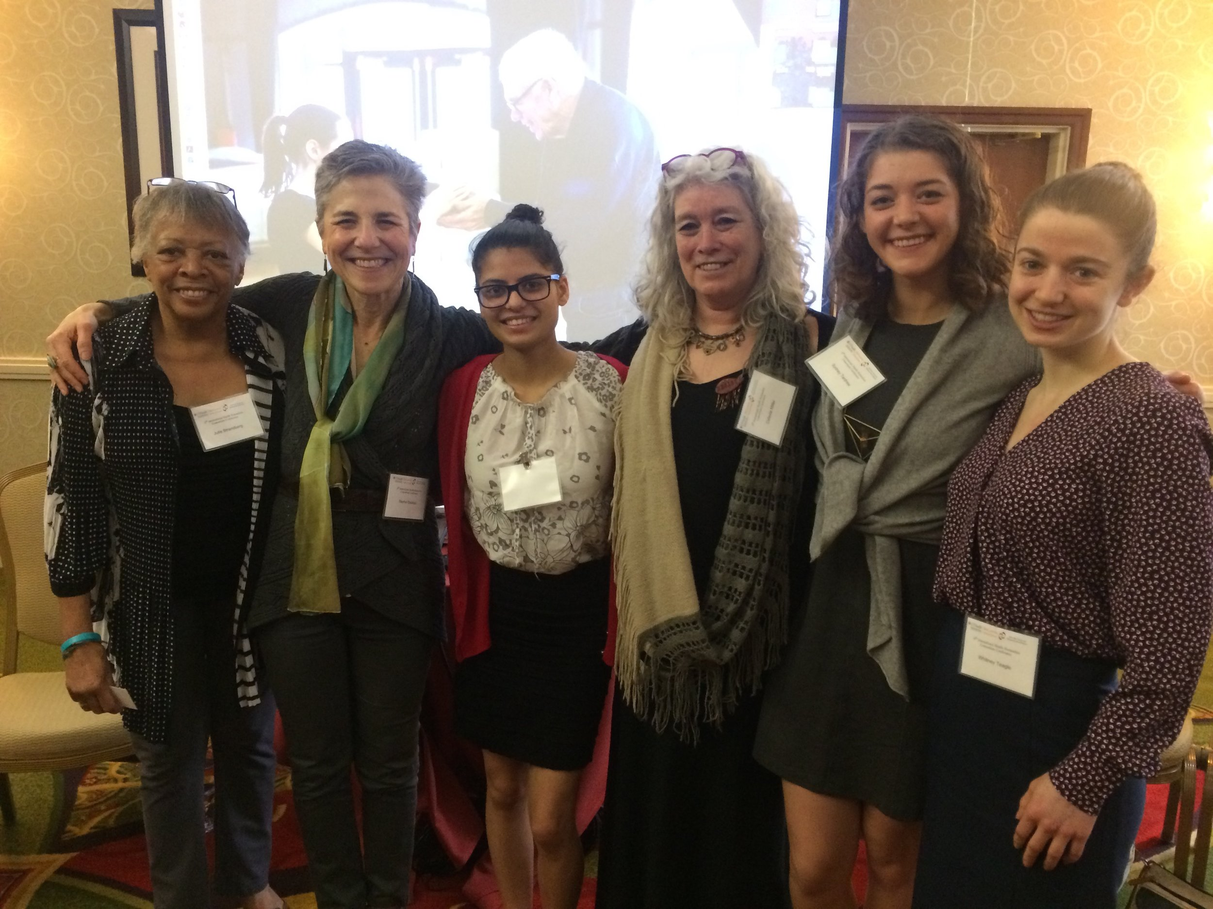 Julie Strandberg, Rachel Balaban, Krishna Mudwari, Celeste Miller, Sydney Tardrew, and Whitney Teagle.