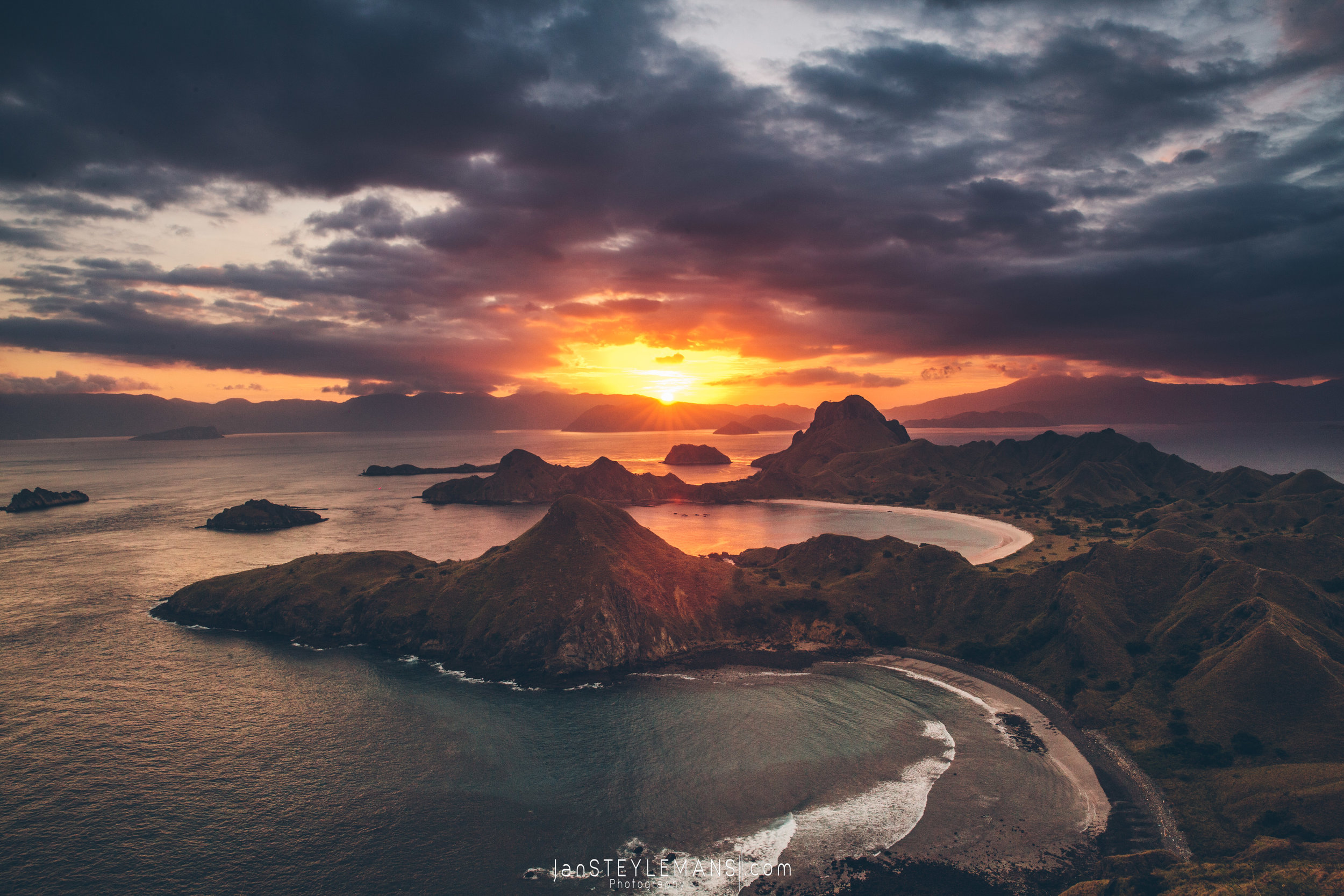 30. Sunset at Padar, Komodo National Park, Indonesia