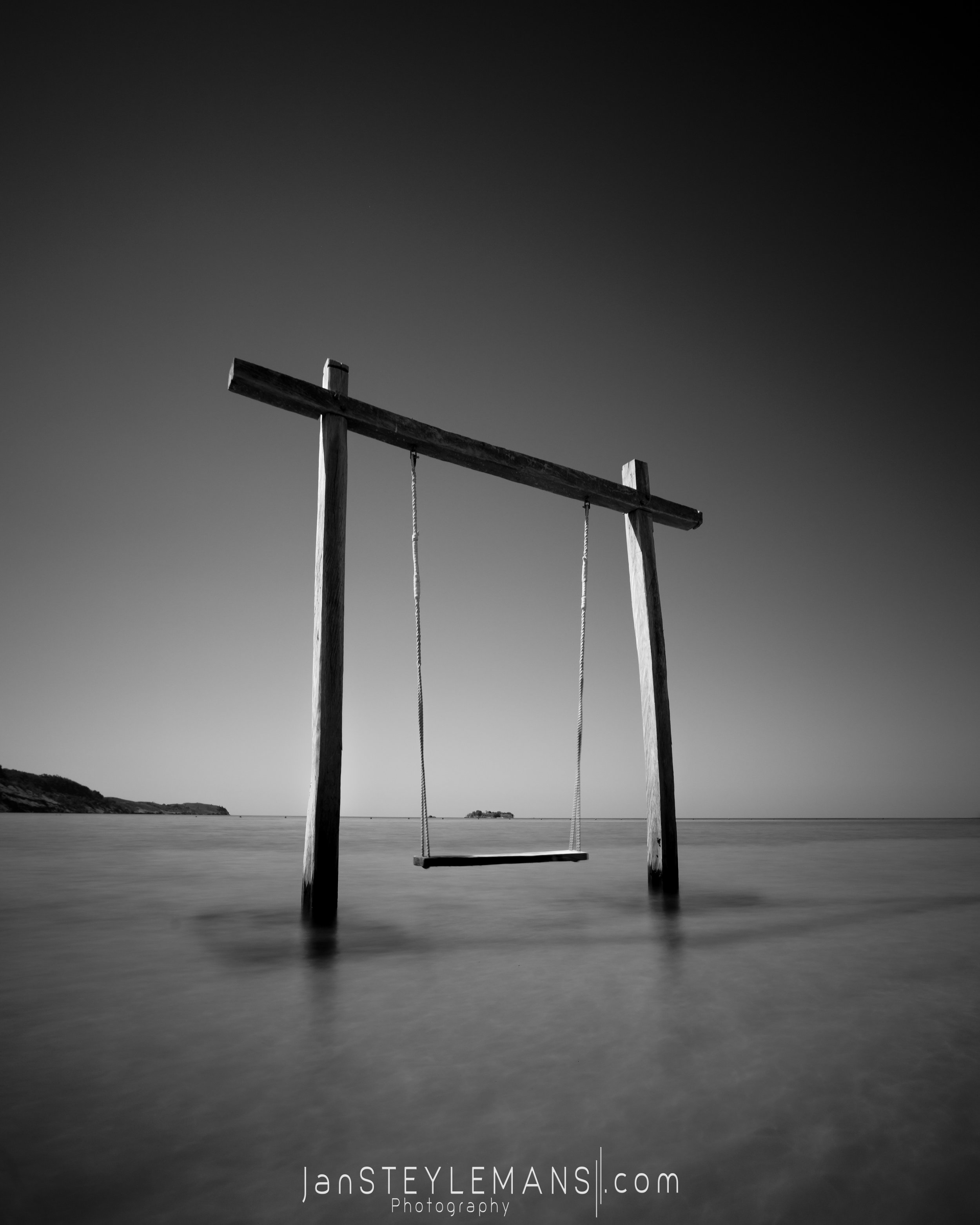 37. Black and white swing. Seraya Island, Indonesia