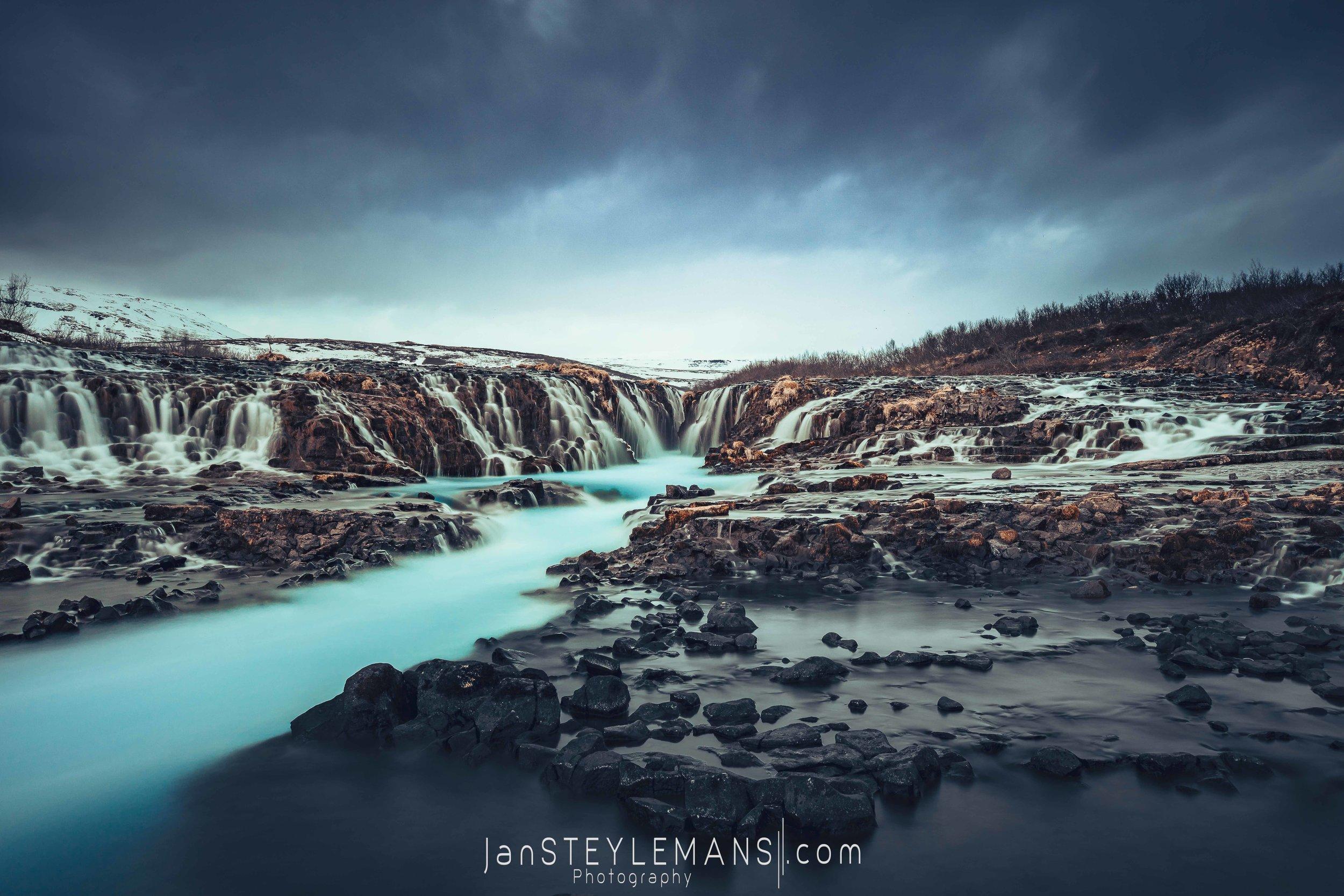 55. Bruarfoss, Iceland. (wide)