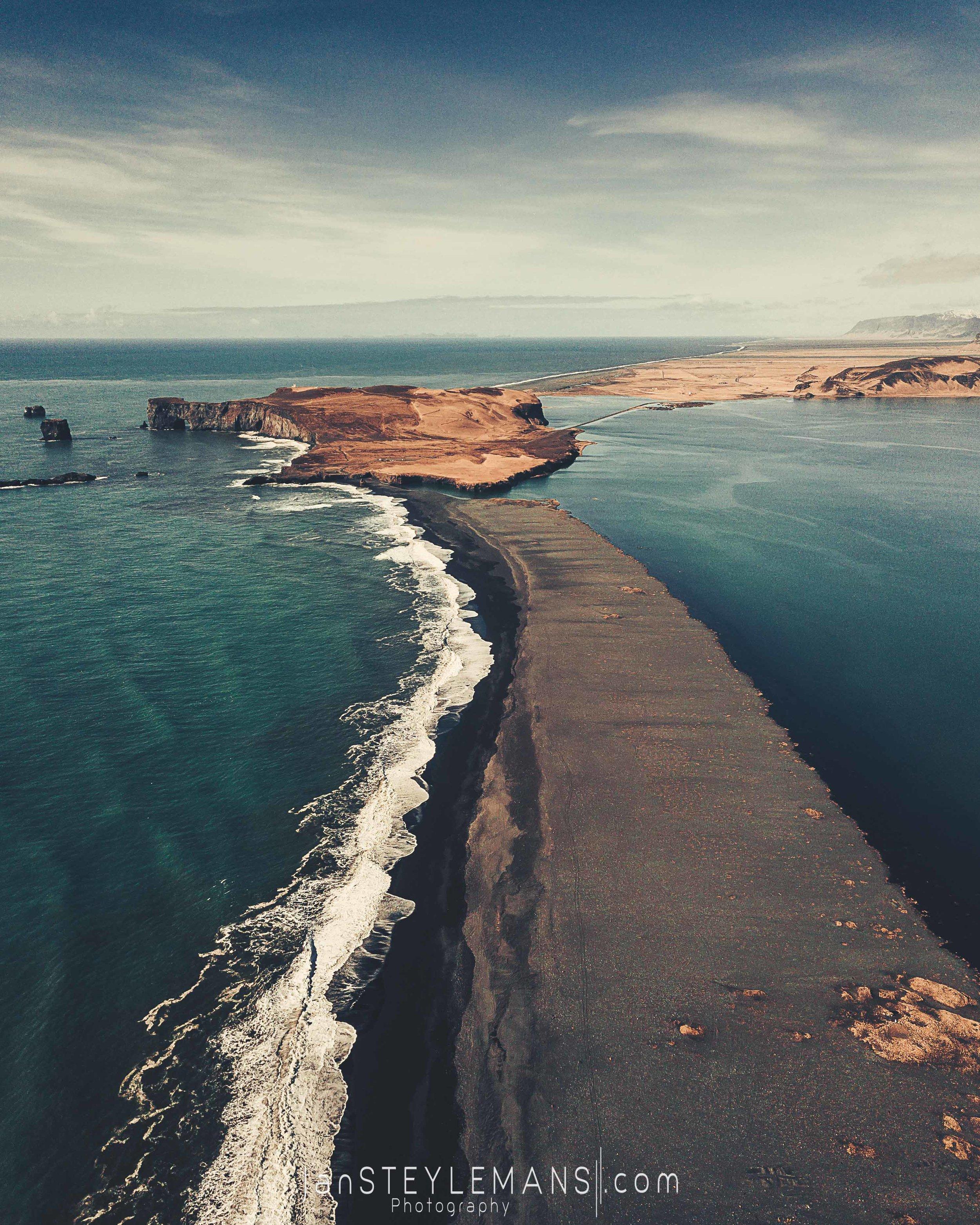 60. Rejnisfjara, Iceland. (aerial)