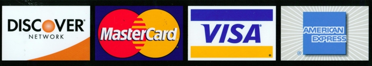 We accept major credit cards, Online and At the Door