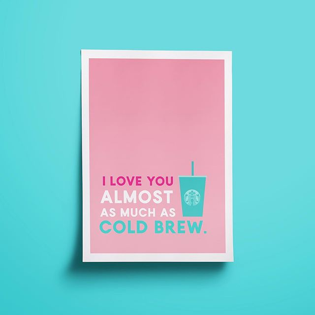 I've been feeling a lot of love and appreciation lately for my family, friends, and followers. So thank you thank you!! For the love and support of my #millennialpink work. 😊❤️😊 #coldbrewlove