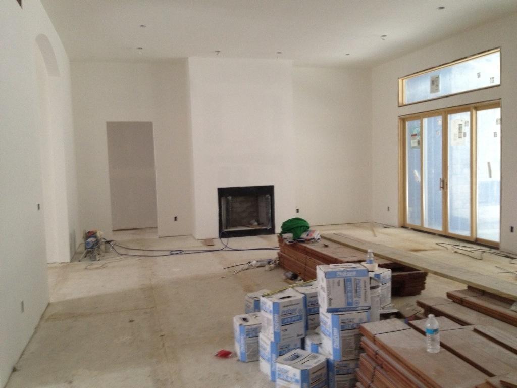 Upstairs Drywall