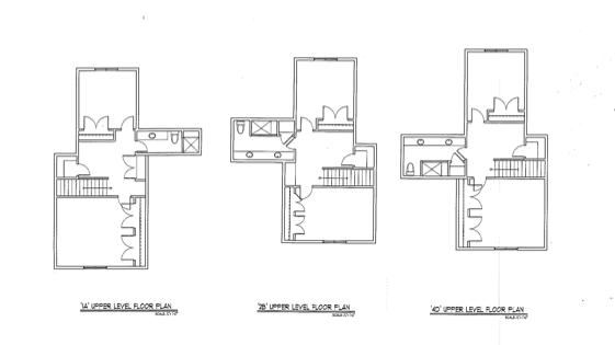 Upper Level Floor Plan Options