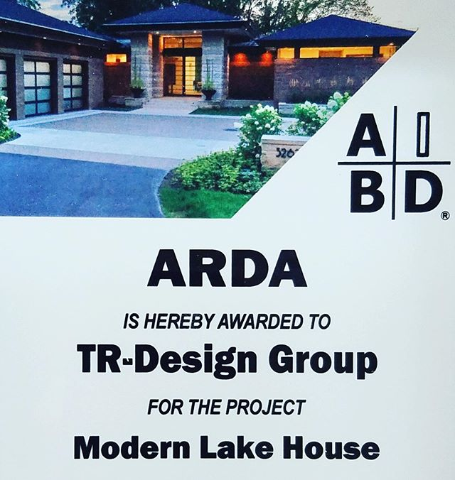 another award for the architecture of our Modern Lake House from the American Institute of Building Design!