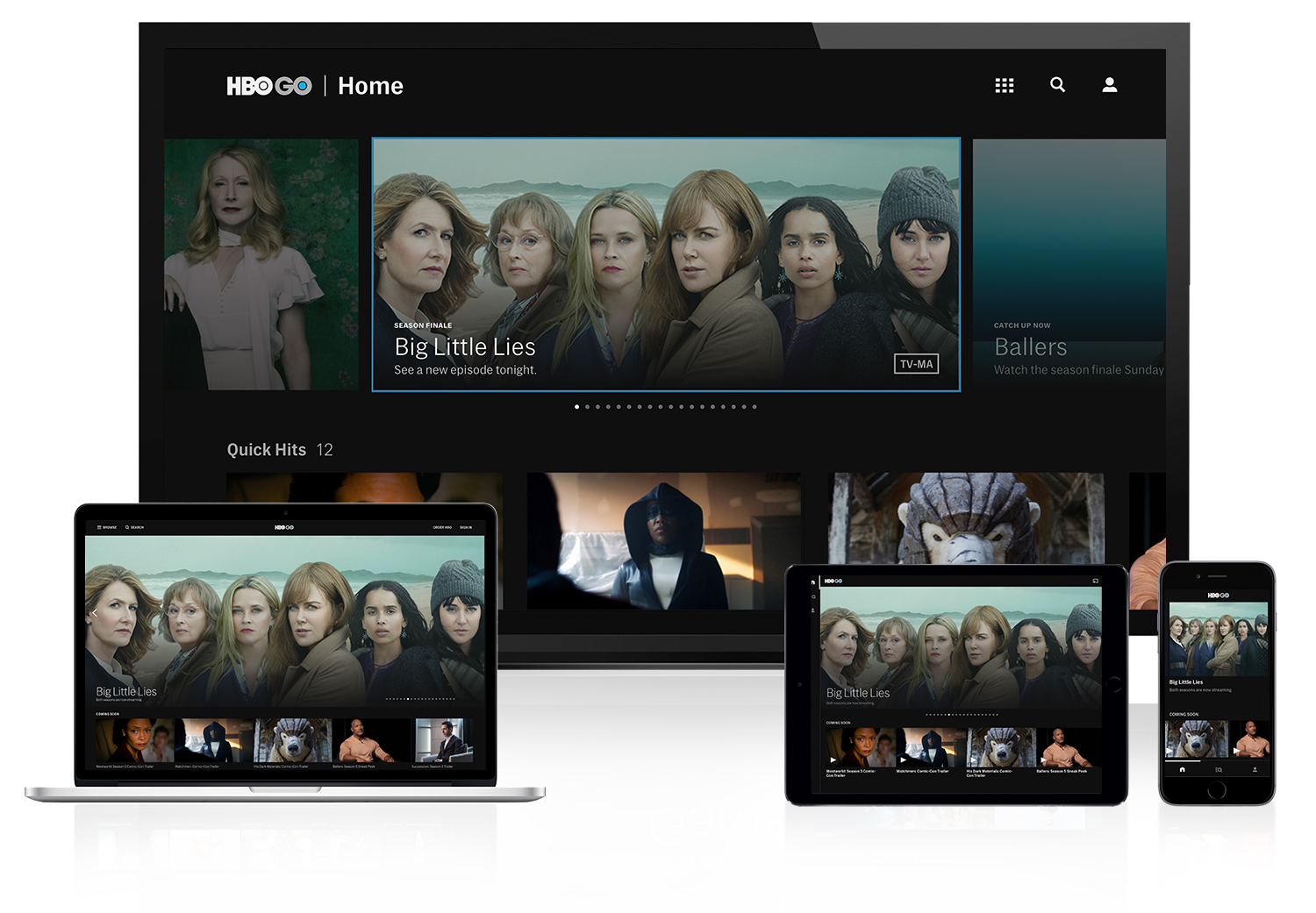 HBO GO on Browser, iOS, & Android