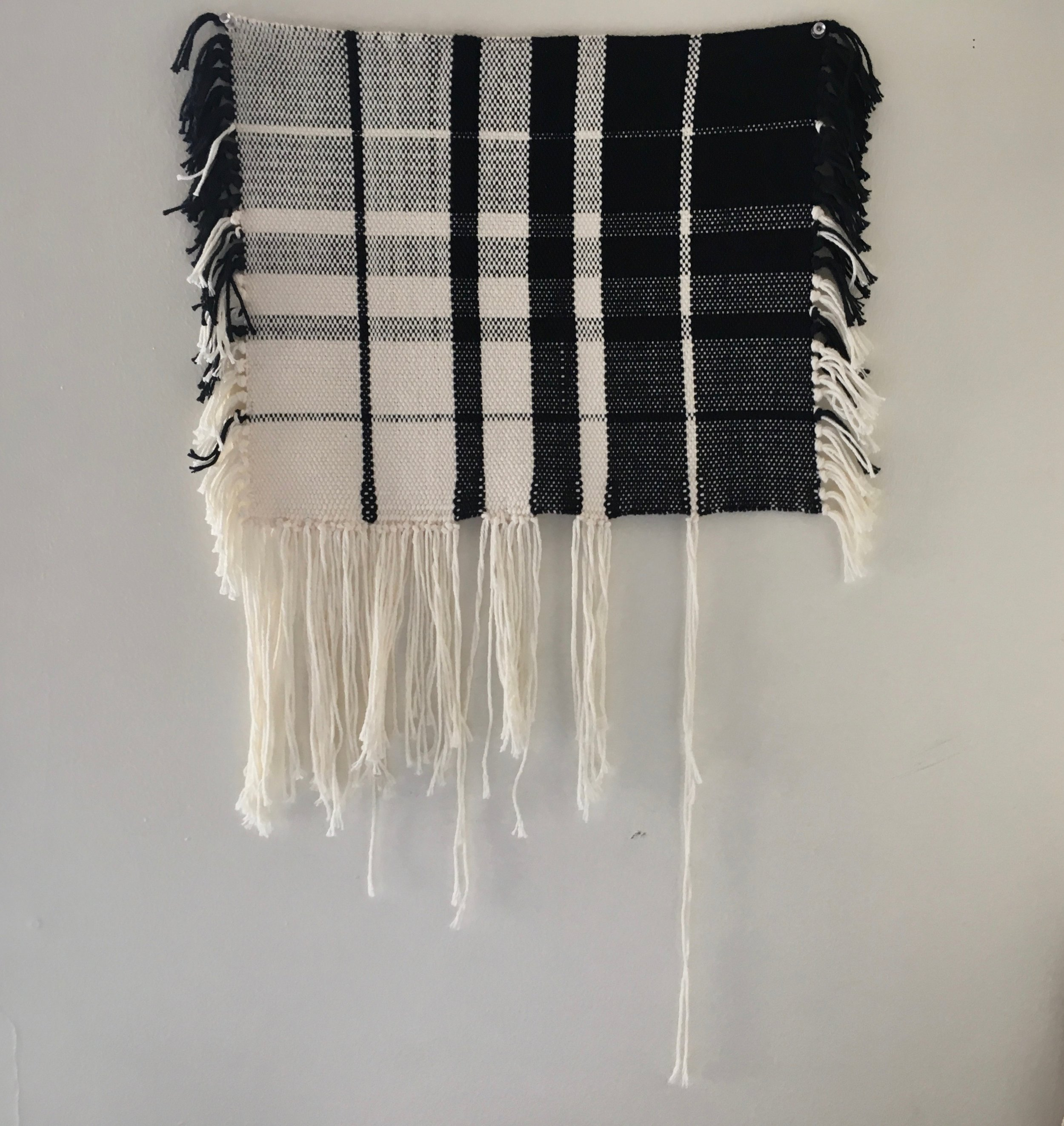 Weft Study #3, hanging weft threads