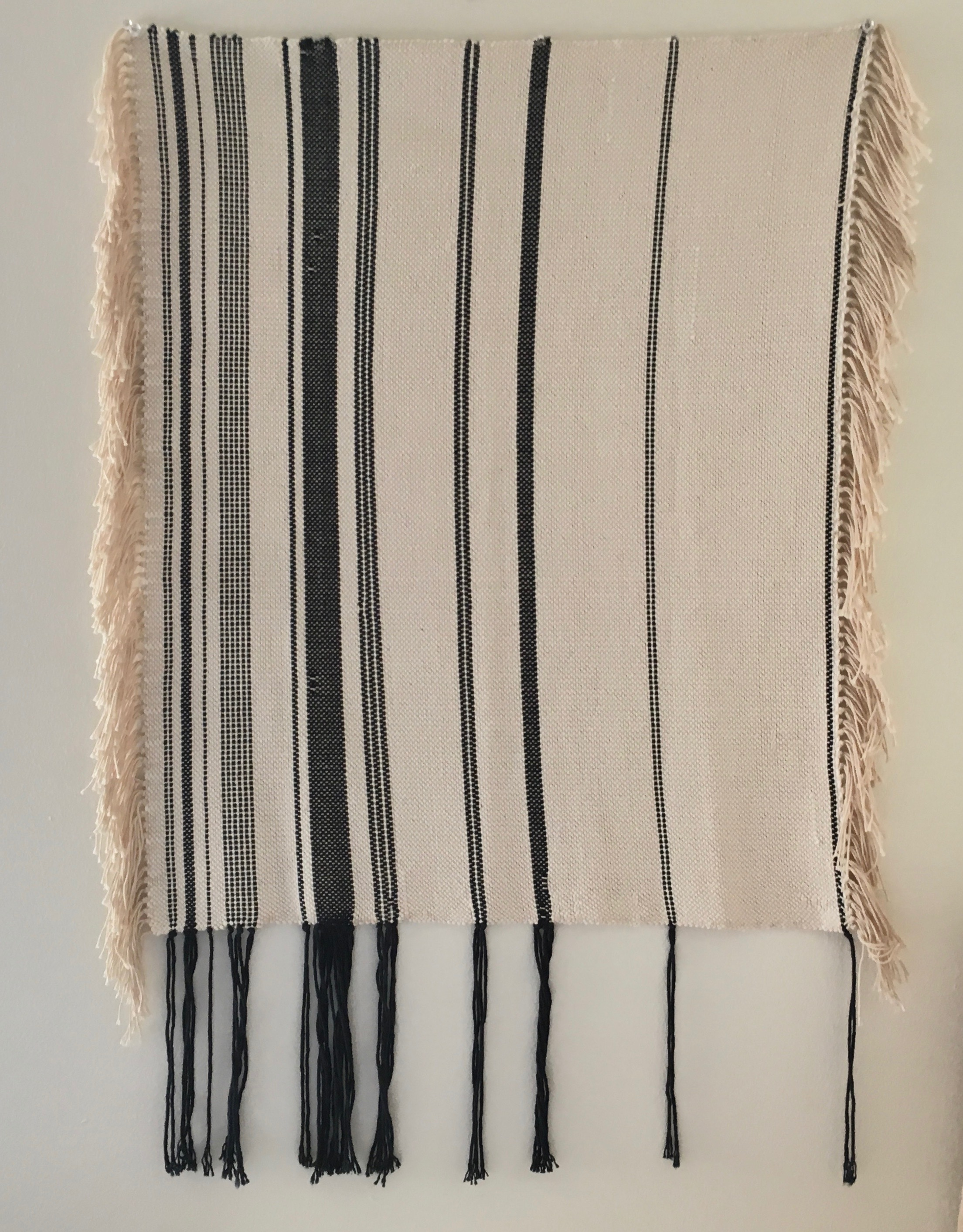 Weft Study #2, hanging weft threads