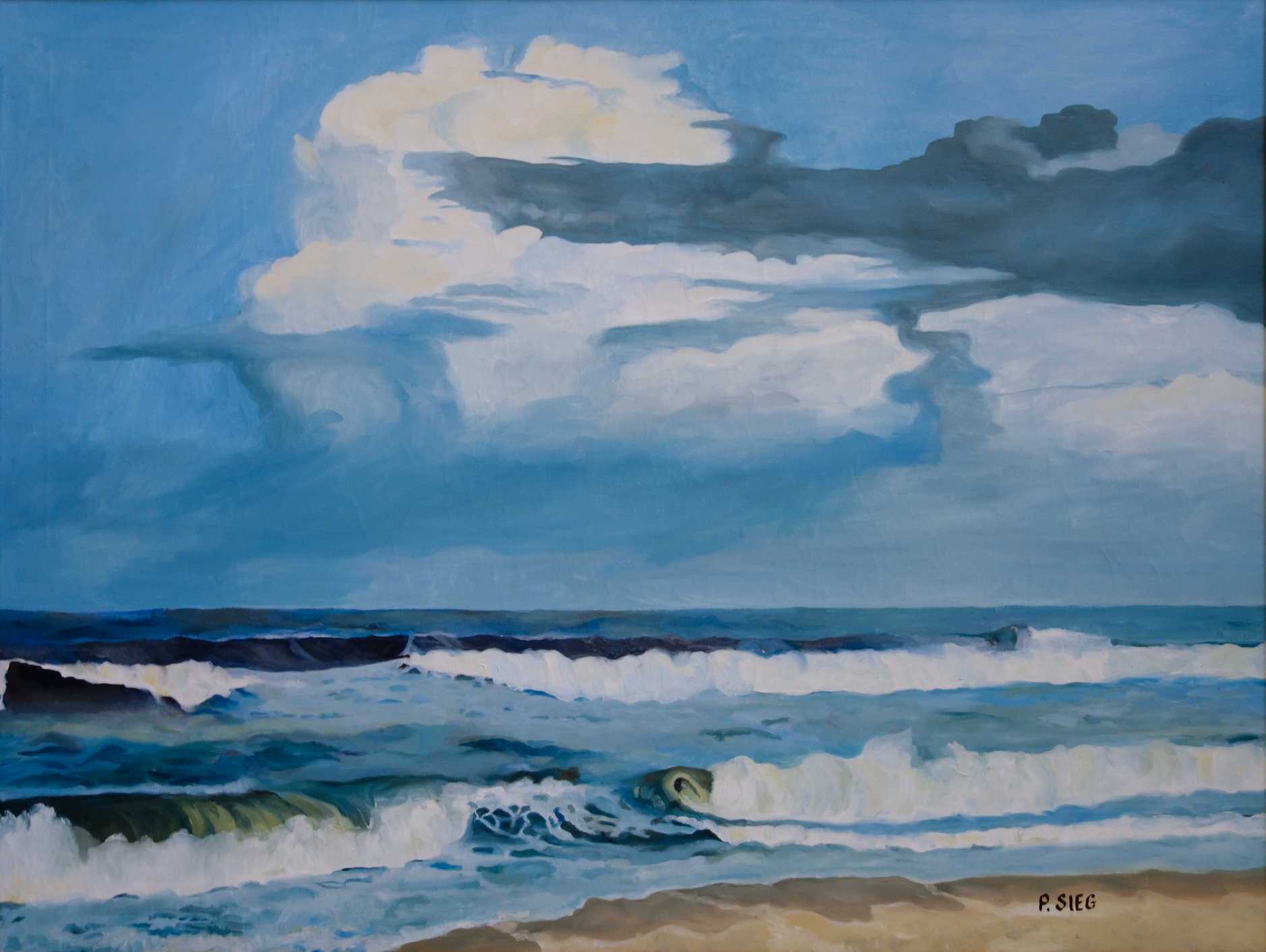 "Storm Clouds   28"" x 36"", oil on canvas Private collection"