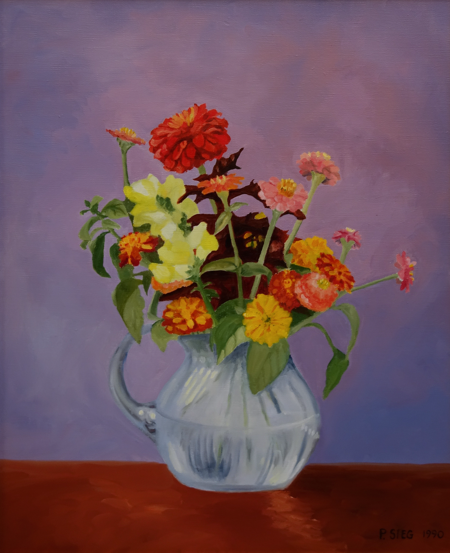 "Fran's Arrangement   14"" x 16"", oil on canvas Private collection"