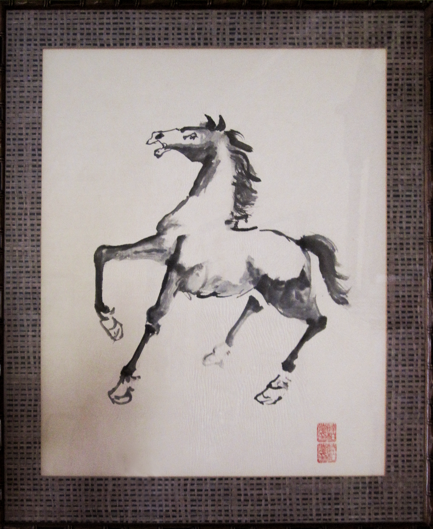 "Startled   22"" x 28"", Chinese ink Private collection"