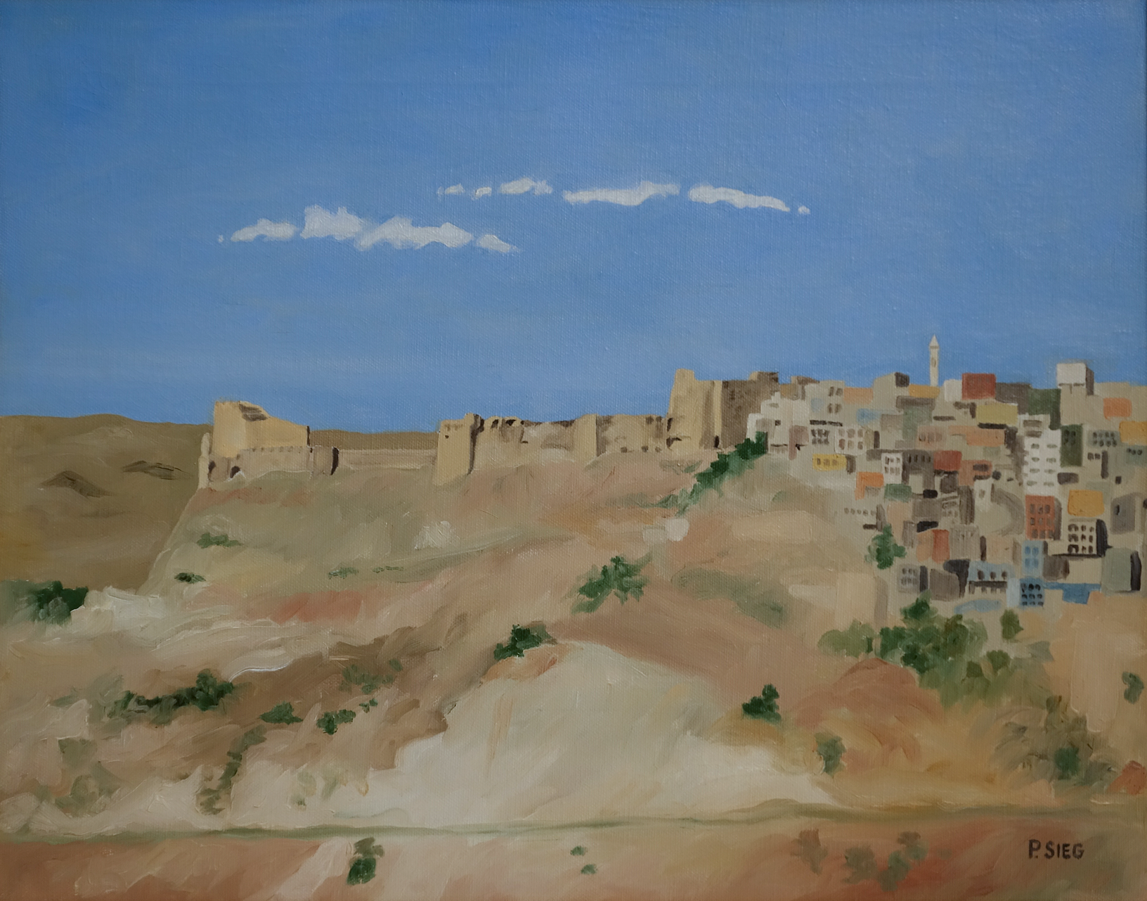 "Kerak   14"" x 18"", oil on canvas Private collection"