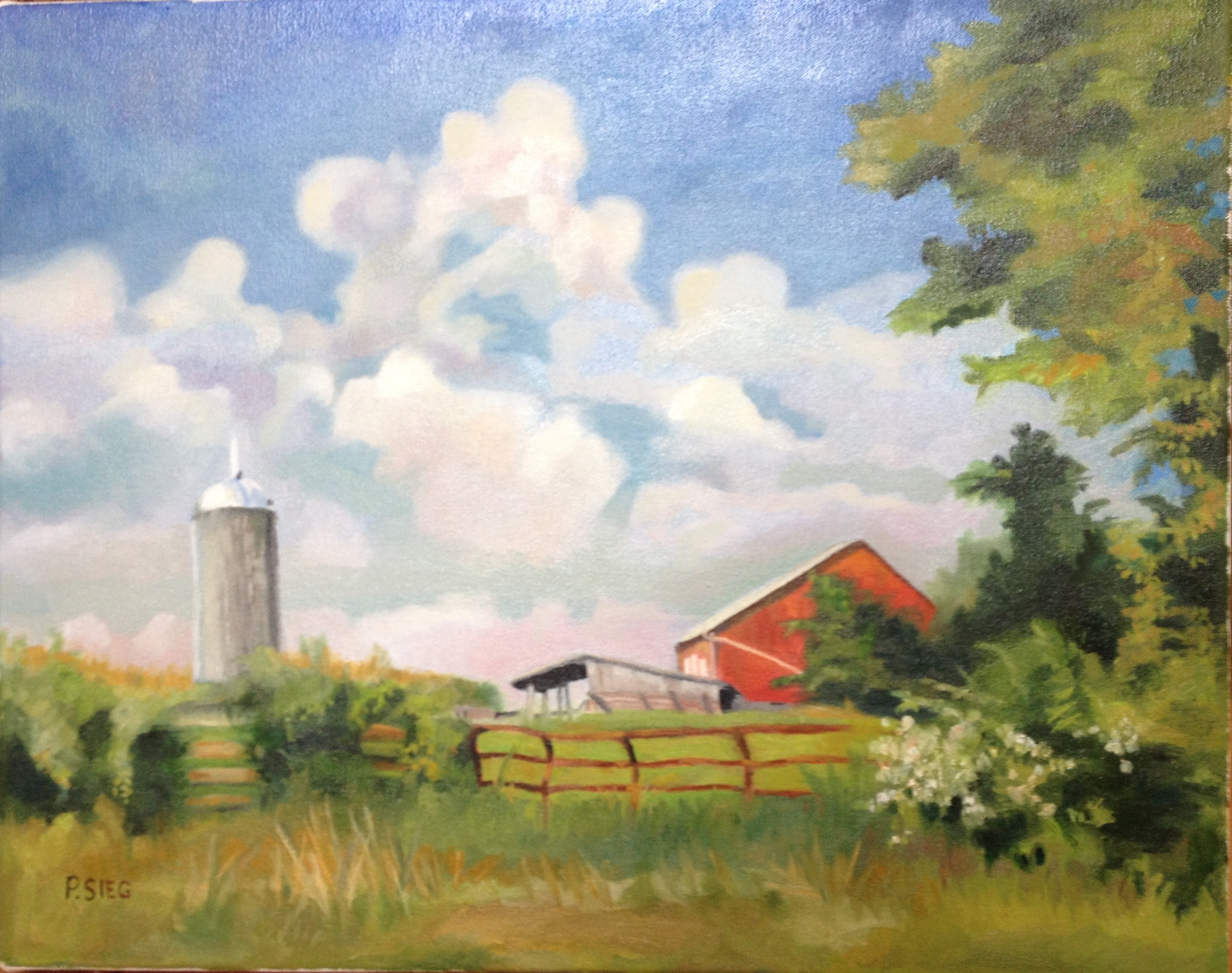 "Spring at Fraley Farm   16"" x 20"", oil on canvas  For sale,  contact the artist"