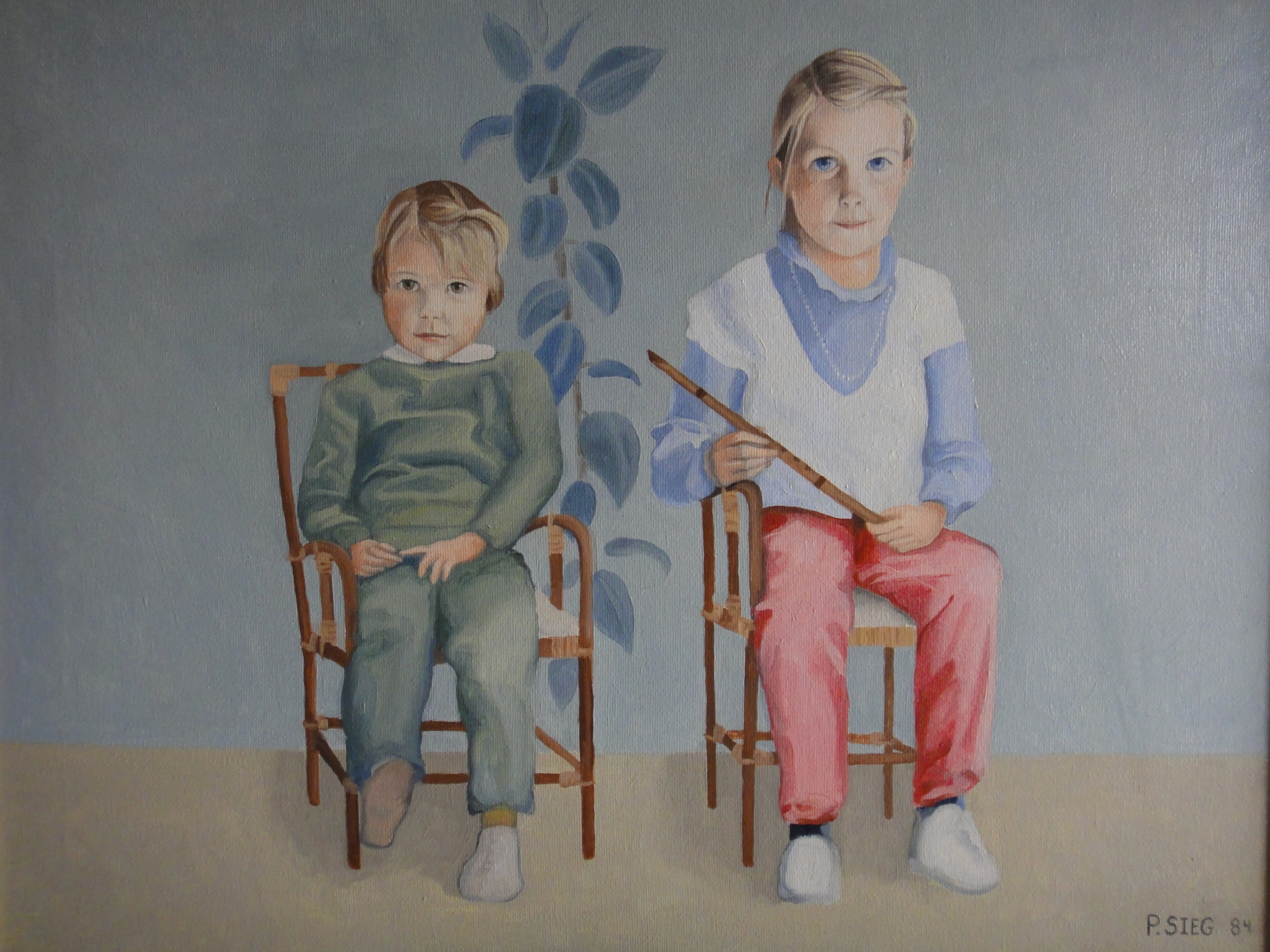 "The Downing Children   18"" x 24"", oil on canvas  Painted on commission"