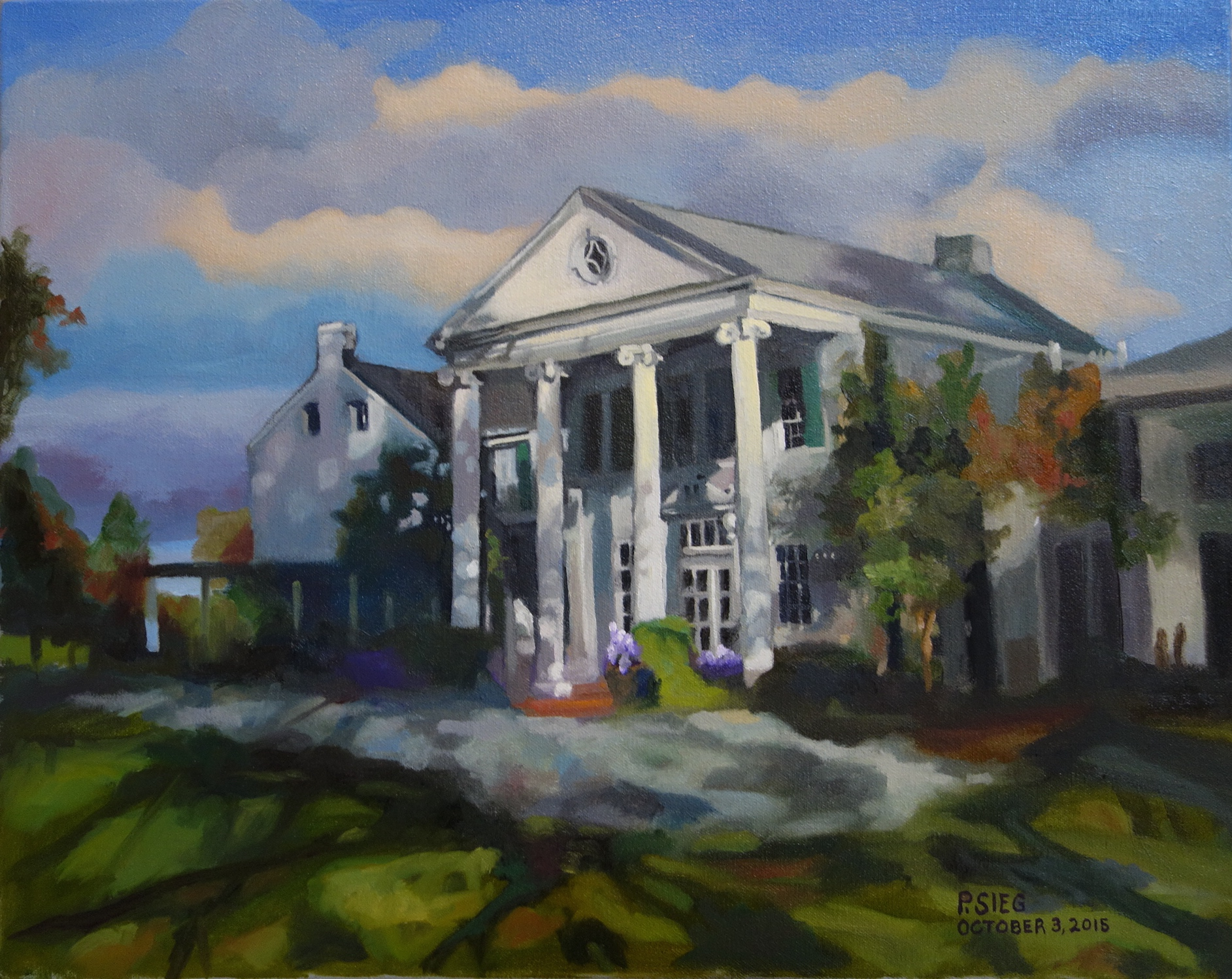 "Whitehall Manor Is A Great Place For A Wedding  16"" x 20"", oi; on canvas Painted on commission"