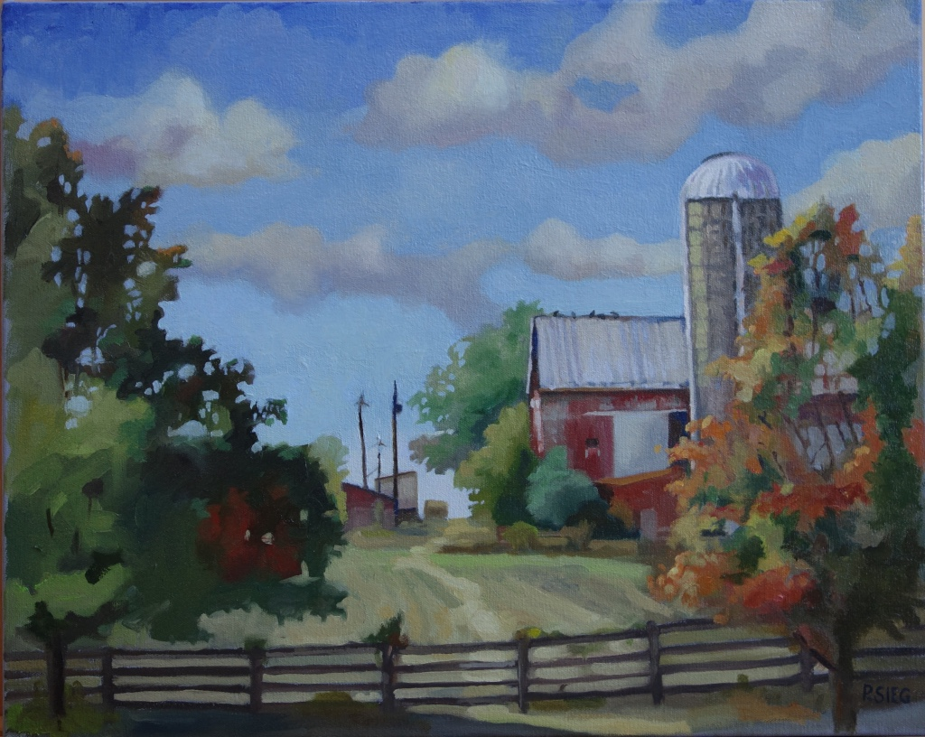 "Pasture Path to Poles  16"" x 20"", oil on canvas For sale,  contact the artist"