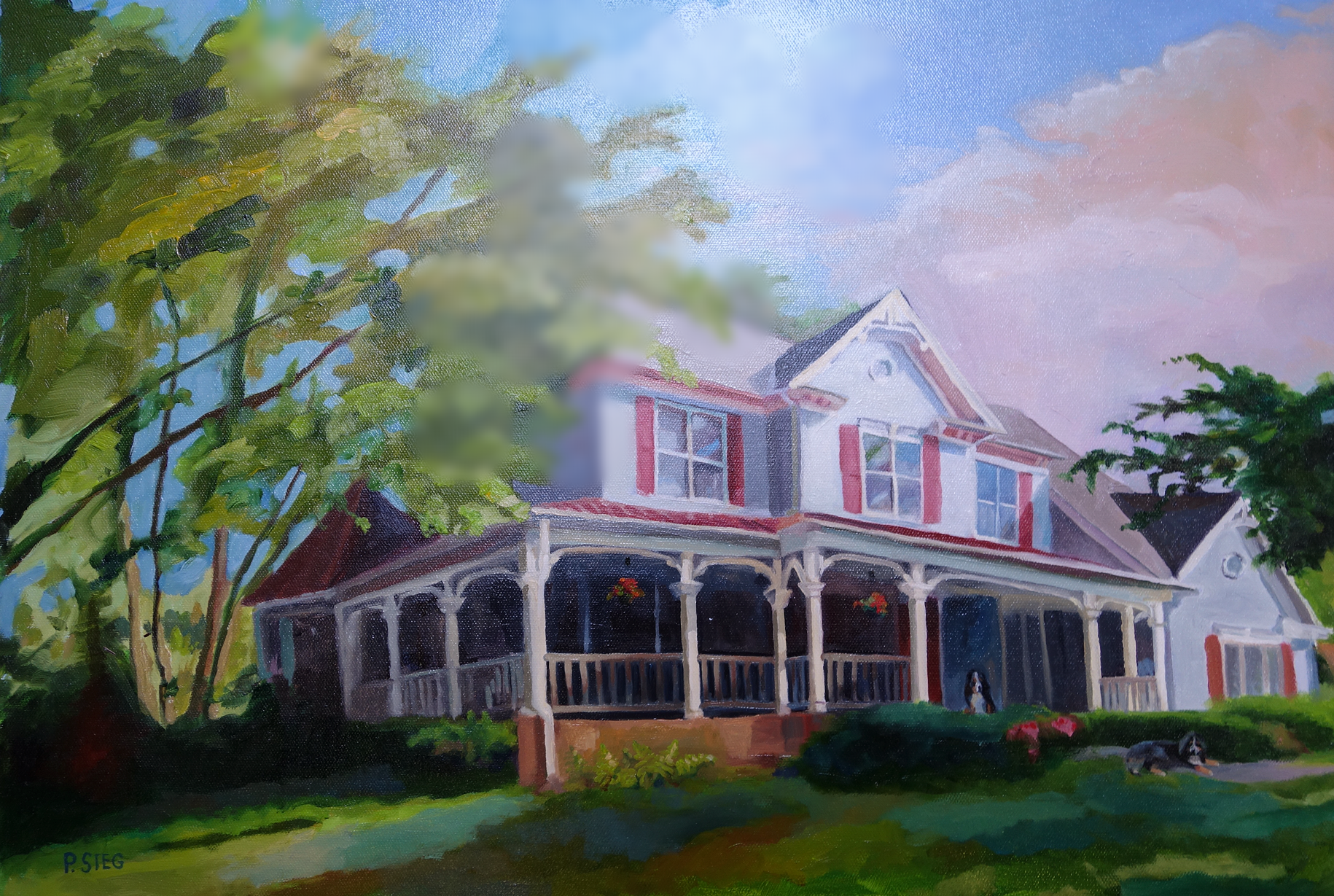 "Perl House   18"" x 24"", oil on canvas Commissioned painting, private collection"