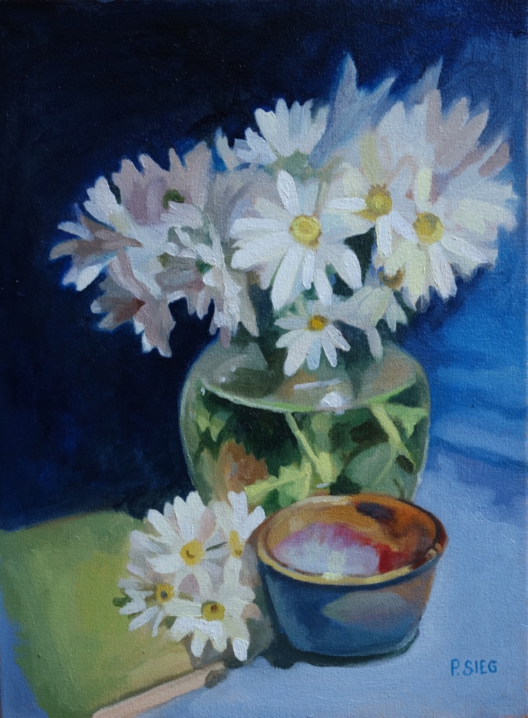 "Daisy Fresh  12"" x 16"", oil on canvas Private collection"