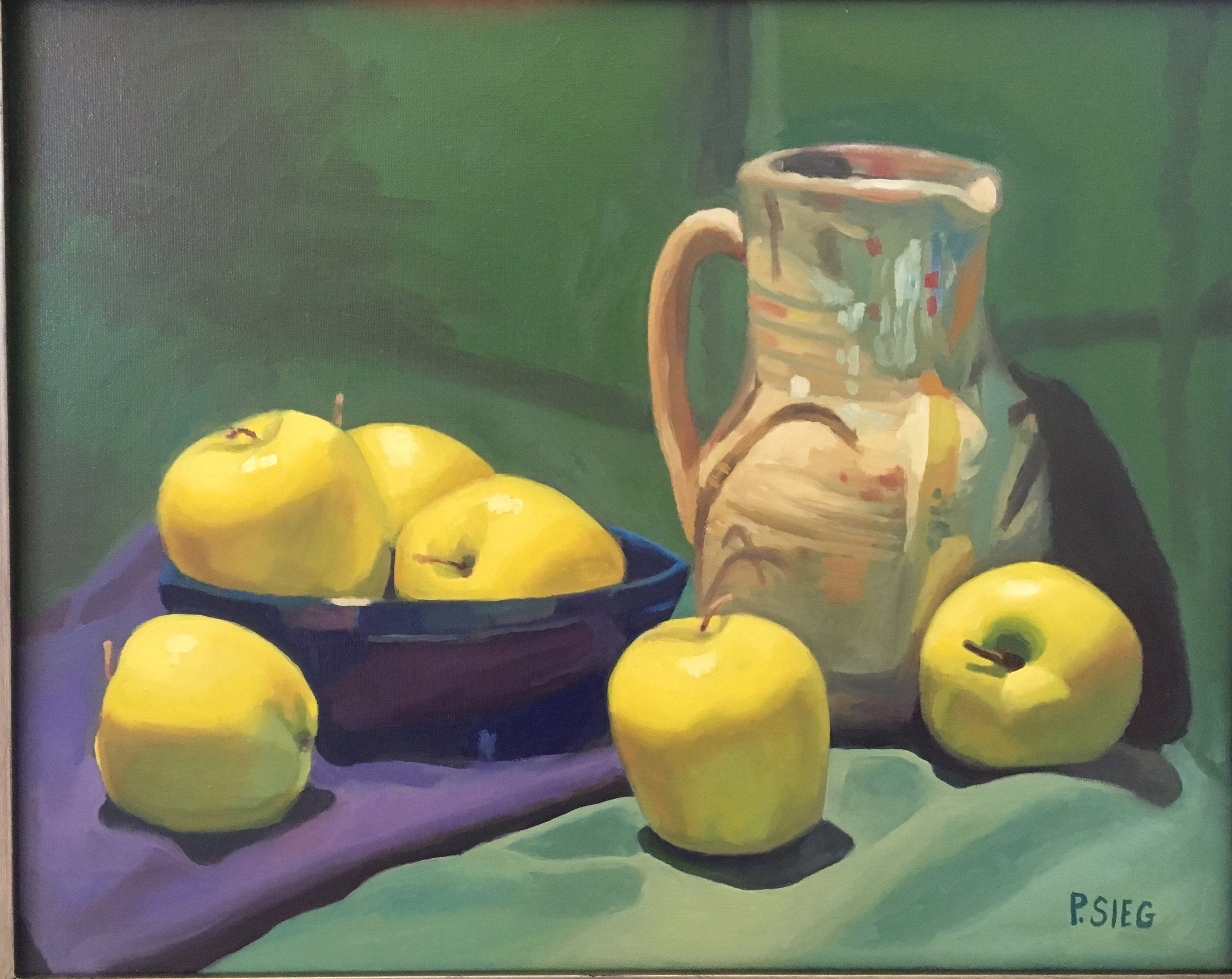 "How Bout Them Apples  16"" x 20"", oil on canvas For Sale,  contact the artist"