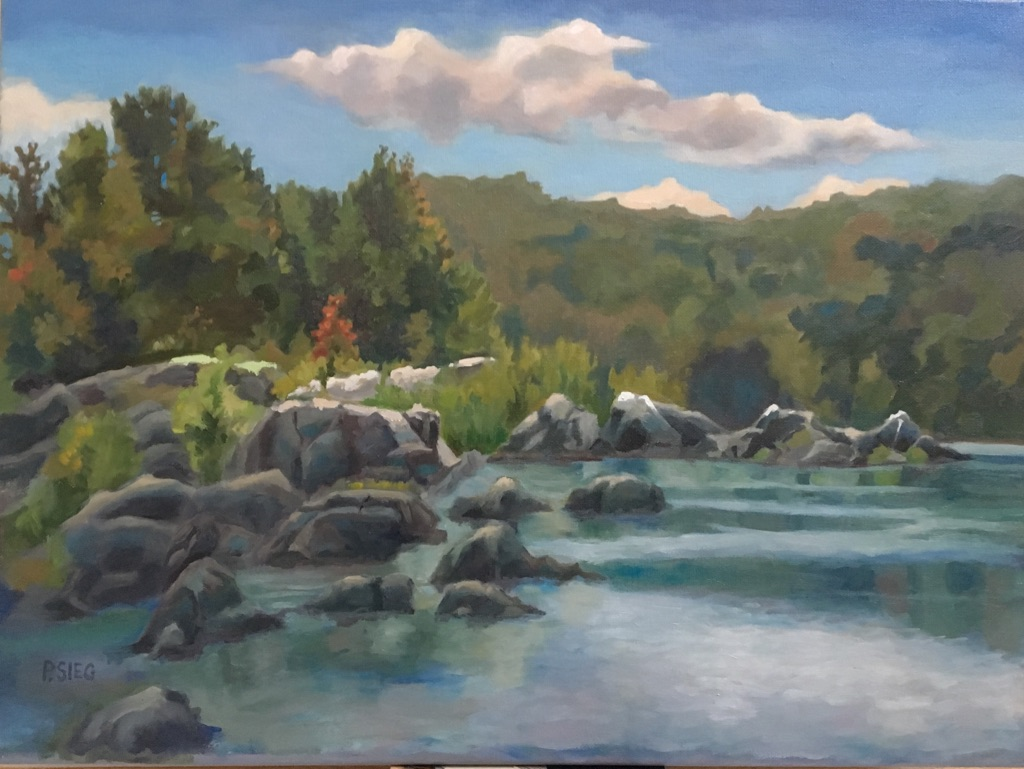 "River Bend   18"" x 24"", oil on canvas  For sale,  contact the artist"