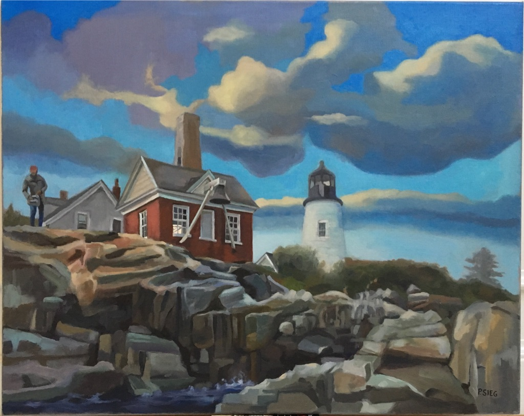 "On The Rocks  24"" x 30"", oil on canvas For Sale,  contact the artist"