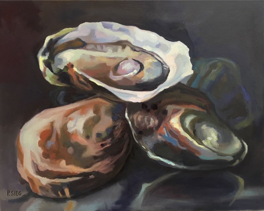 "East Coast Oysters  16"" x 20"", oil on canvas Private collection"