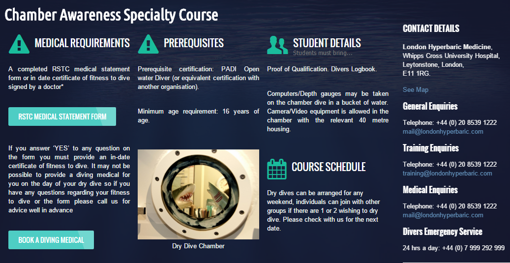 sign up for the course, this chamber is in the uk, but you can check online for others depending on your location
