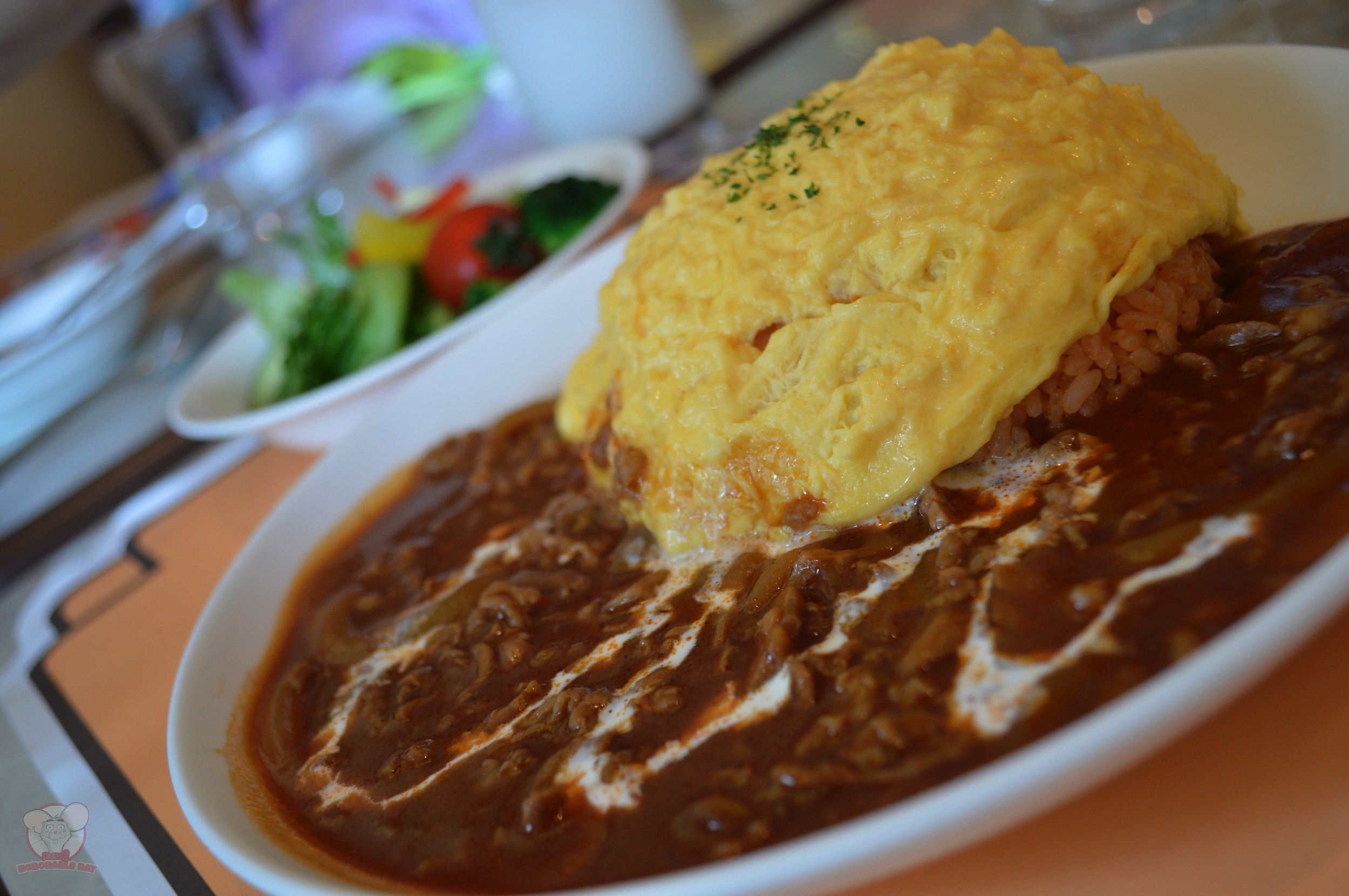 Omelet over Rice with Beef and Demi-Glace Sauce