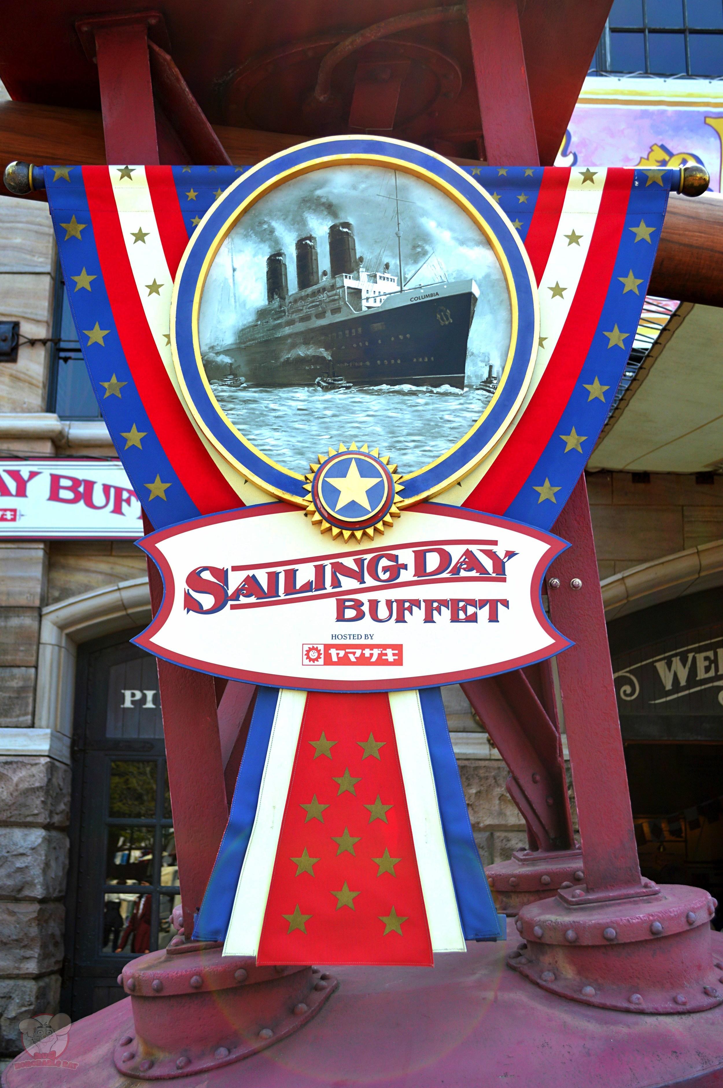 Sailing Day Buffet sign