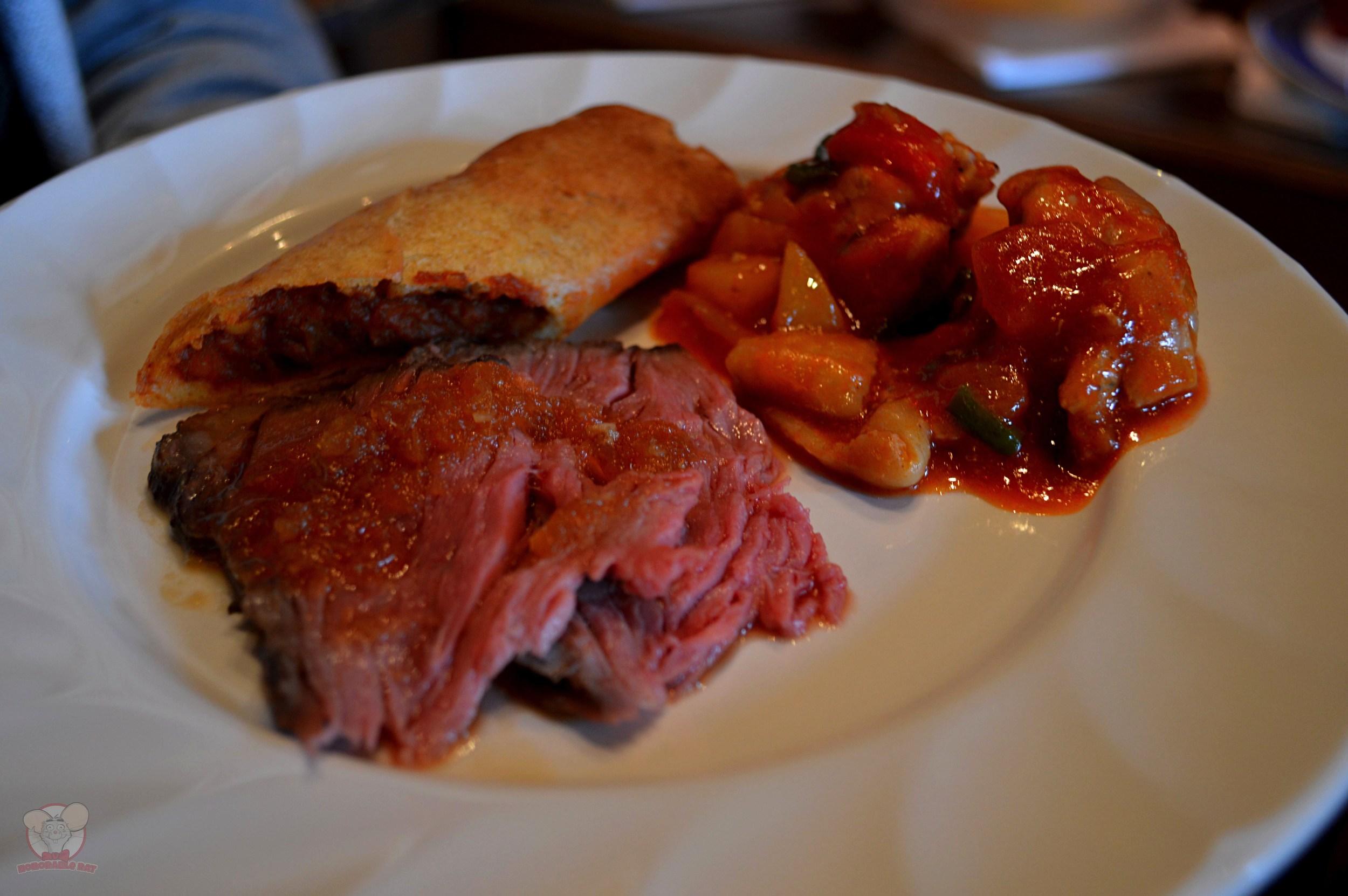 Roast Beef, Creole Chicken, Meat Puff