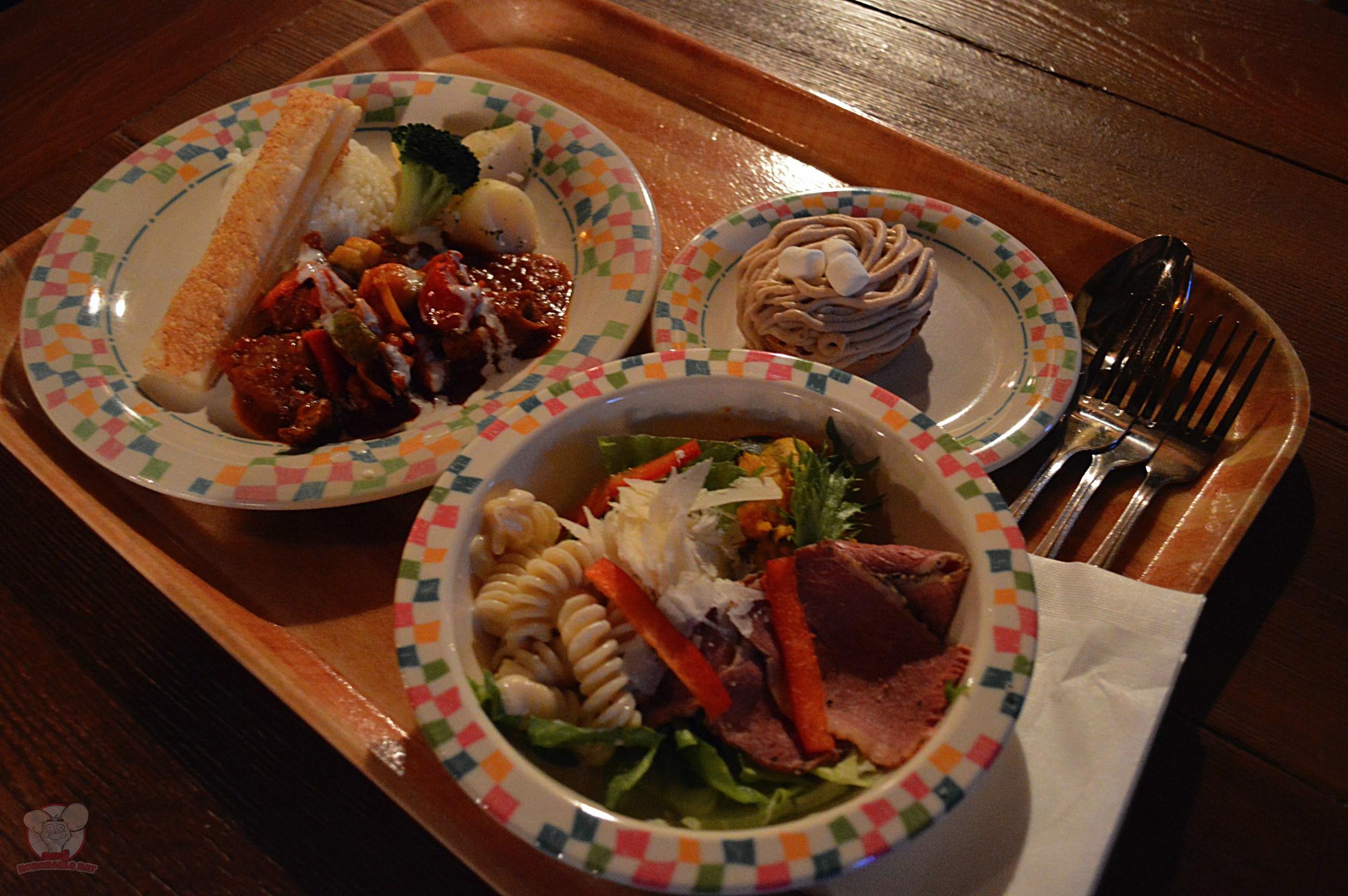 Our meal at Grandma Sara's